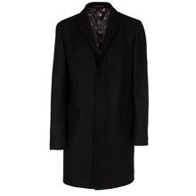 Paul Smith Coats - Black Single-Breasted Epsom Coat