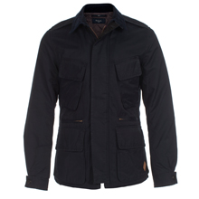 Paul Smith Jackets - Navy Quilted Field Jacket