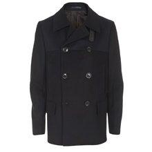 Paul Smith Jackets - Black Pea Coat
