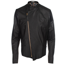 Paul Smith Jackets - Black Leather Biker Jacket