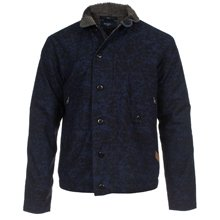 Paul Smith Jackets - Navy Tie-Dyed Field Jacket