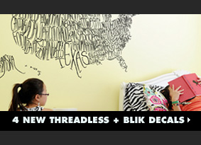 4 New Threadless + Blik Decals
