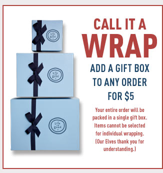 Add Gift Wrap to you next order for $5