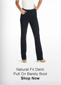 NATURAL FIT DEMI PULL ON BARELY BOOT SHOP NOW