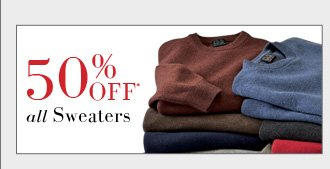 40% OFF* Sweaters