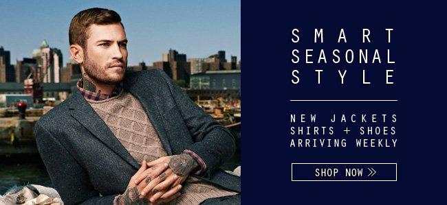 Smart Seasonal Style - New Jackets, Shirts, + Shoes