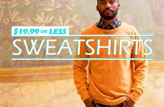 Sweatshirts $19.99 or less