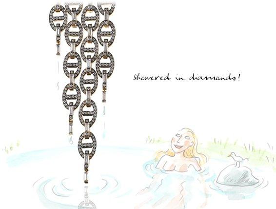 Showered in diamonds!
