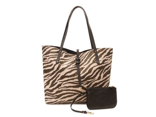 I love this bag because it's a classic shopping tote with a stylish twist--zebra print!