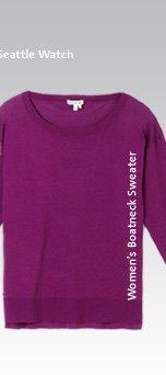 Women's Boatneck Sweater