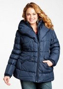 Web Exclusive: Pillow Collar Quilted Short Coat