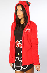 The Hello Kitty For Life Bow Hoodie in Red