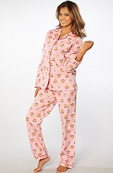The Flannel Allover Printed PJ Pant Set in Pink