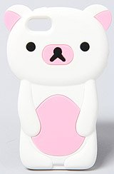 The Too Cute Teddy Bear Iphone 5 Case in Pink and White