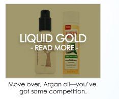 LIQUID GOLD: THE LATEST OILS Move over, Argan oil. We've unearthed the latest, most exotic and most promising oils on the beauty shelves today.  READ MORE >>