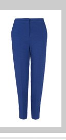 Crease Front Crepe Peg Trousers