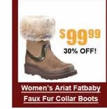 Women's Ariat Fatbaby Faux Fur Collar Boots