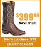 Men's Lucchese Ostrich Boots