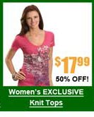 Women's Exclusive Studded Knit Tops