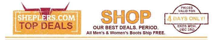 Sheplers Top Deals