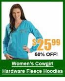 Women's Cowgirl Fleece Hoodiwes