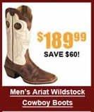 Men's Ariat Wildstock Cowboy Boots