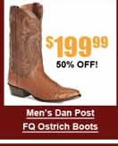 Men's Dan Post FQ Ostrich Boots