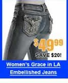 Women's Grace in LA Embellished Jeans