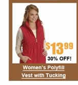 Women's Polyfill Vest with Tucking