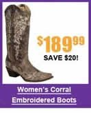 Women's Corral Embroidered Boots