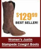 Women's Justin Stampede Cowgirl Boots