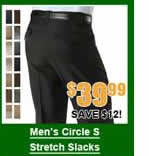 Men's Circle S Stretch Slacks