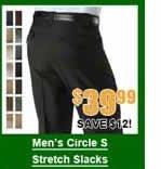 Men's Circle S Stretch Slacks