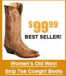 Women's Old West Snip Toe