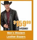 Men's Western Leather Blazer