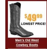 Men's Old West Cowboy Boots