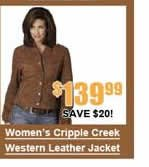 Women's Cripple Creek Western Leather Jacket