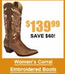 Women's Corral Enbroidered Boots
