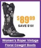 Women's Roper Vintage Floral Cowgirl Boots