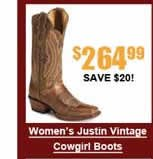 Women's Justin Vintage Cowgirl Boots