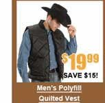 Men's Polyfill Quilted Vest