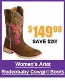 Women's Ariat Rodeobaby Liberty Cowgirl Boots