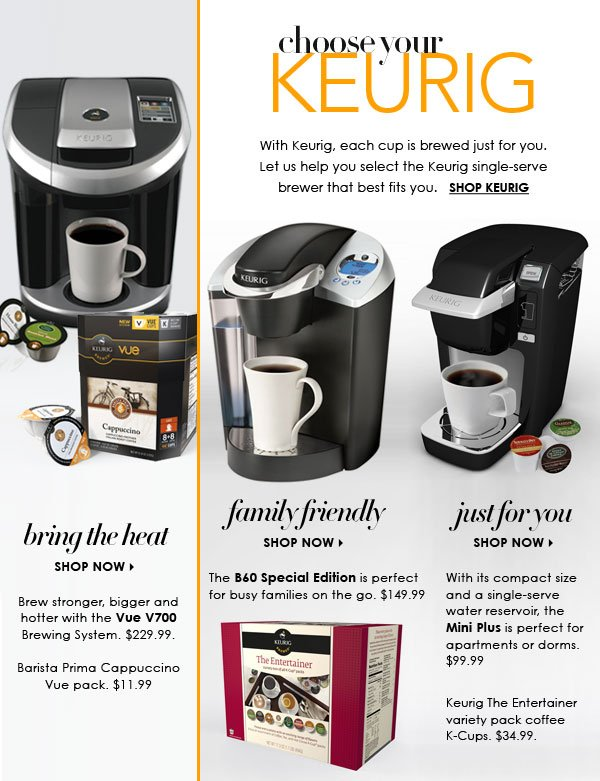 The perfect brew for you: Keurig coffeemakers