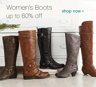 Women's Boots up to 60% off. Shop now.
