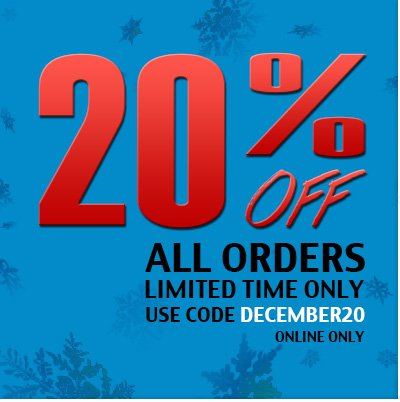20% off all orders. Limited time only.