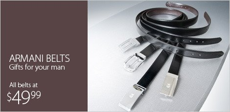 Armani Belts - GIFTS FOR YOUR MAN