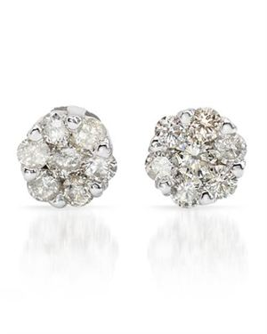 Ladies Earrings Designed In 14K White Gold $209