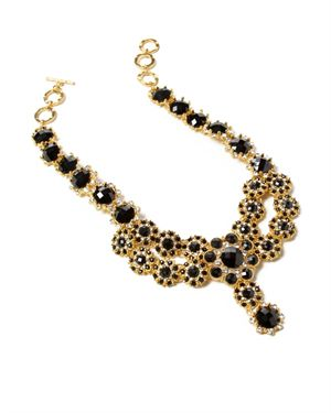 Amrita Singh Flower Motif Necklace With Resin Stones