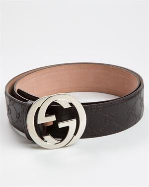 Gucci Men's Belt With Interlocking G Buckle Made in Italy