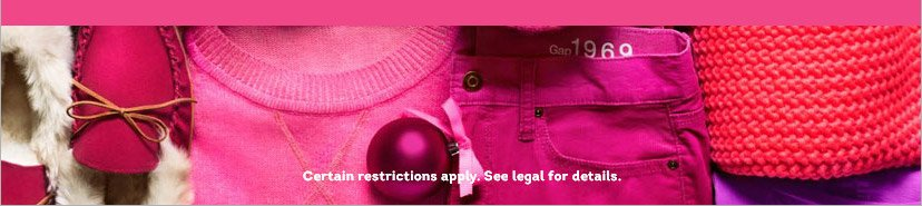 Certain restrictions apply. See legal for details.